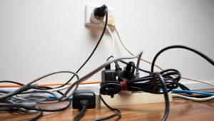 messy Custom TV Installation