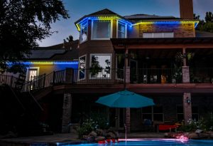 permanent exterior LED lighting in The Woodlands
