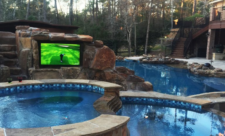 Automated pool and lighting system installation