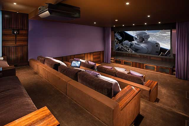 Home theater projector installation and lighting systems automation