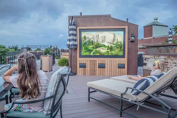 Rooftop TV area automation