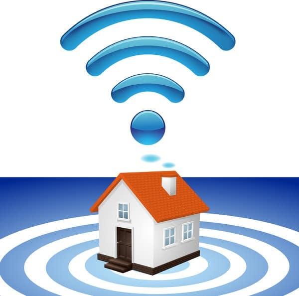 wi-fi home network logo